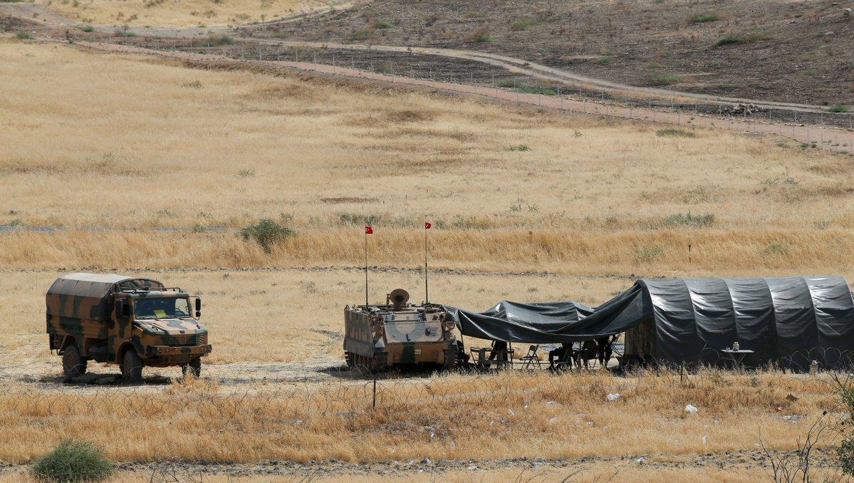 """Σταθμός Διοικήσεως in Jarabulus, Syria during the """"Operation Euphrates Shield"""" on August 24, 2016"""