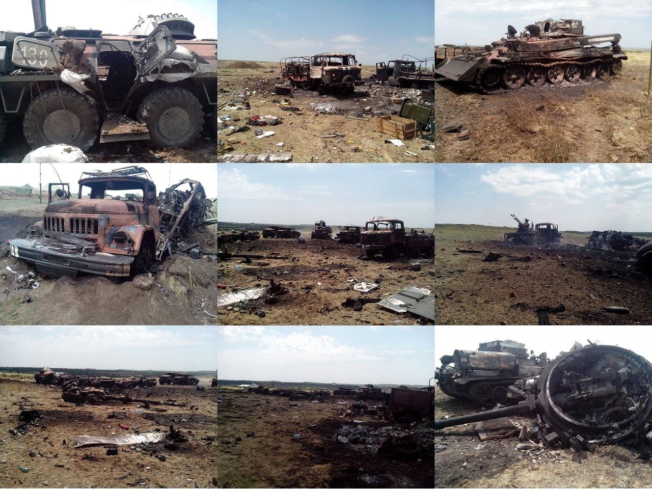 Τα αποτελέσματα προσβολής με πυρά πυροβολικού σε χώρο συγκέντρωσης ουκρανικής Μονάδας