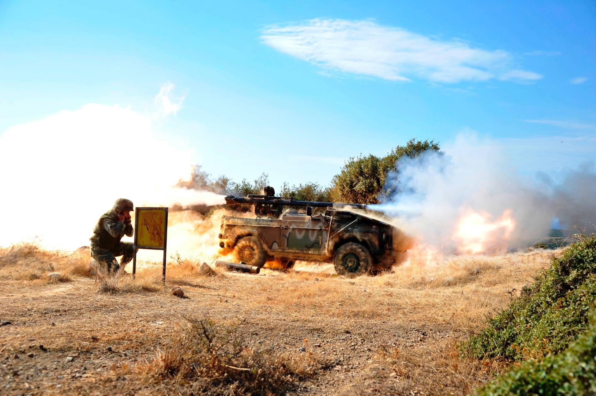 Εκτέλεση πυρών Αμύνης με ΠΑΟ των 106χιλ.